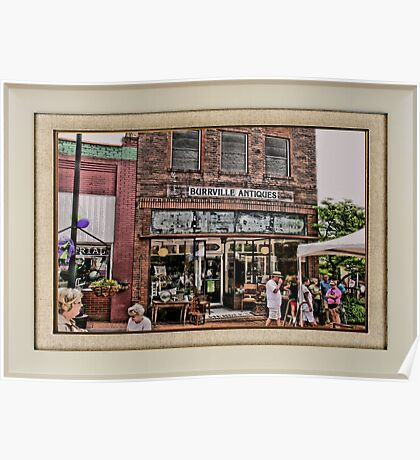 """Burrville Antiques"" ... with a matted and framed presentation, for prints and products Poster"