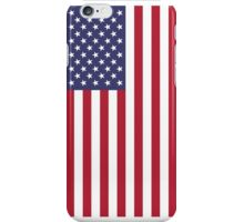 US Flag - White iPhone Case/Skin