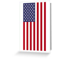 US Flag - Red Greeting Card