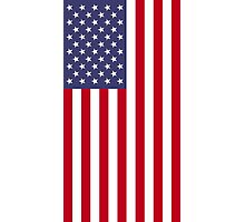 US Flag - Red Photographic Print