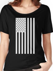 US Flag - Black & White Women's Relaxed Fit T-Shirt