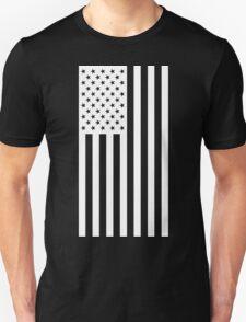 US Flag - Black & White T-Shirt