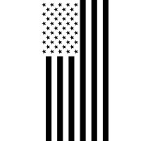 US Flag - Black & White Photographic Print