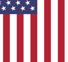 US Flag - White Sticker