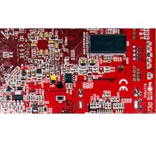 A cross section of a printed circuit board Photographic Print