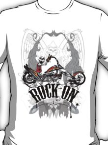 Skulls Rock On Rock Music T-Shirt T-Shirt