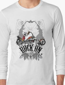 Skulls Rock On Rock Music T-Shirt Long Sleeve T-Shirt