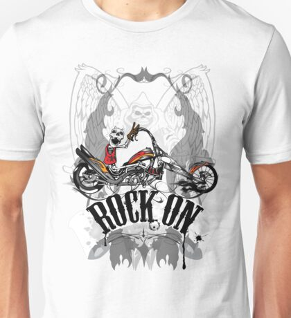 Skulls Rock On Rock Music T-Shirt Unisex T-Shirt