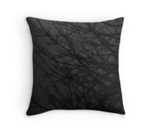 Branches In B/W Throw Pillow