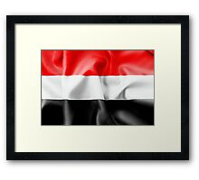 Yemen Flag Framed Print