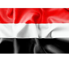 Yemen Flag Photographic Print