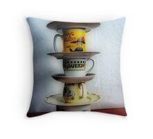 Holy Towering Teacups Batman Throw Pillow