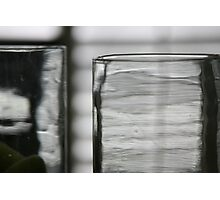 Studies in Glass ...shades of grey .. Photographic Print