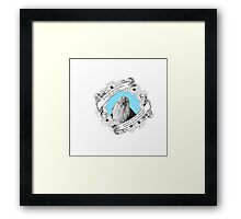 Do Not Pity the Dead, Harry in Blue Framed Print