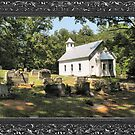 """""""Cades Cove Missionary Baptist Church"""" ... with a canvas and framed presentation, for prints and products by © Bob Hall"""