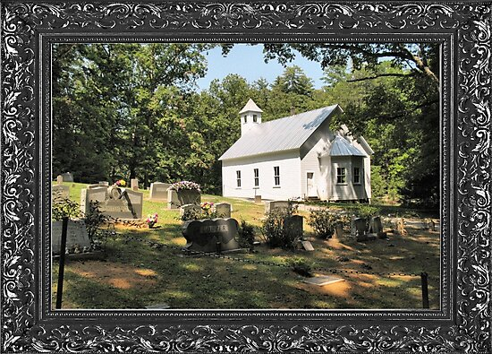 """Cades Cove Missionary Baptist Church"" ... with a canvas and framed presentation, for prints and products by © Bob Hall"