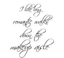 Romantic walks down the makeup aisle Photographic Print