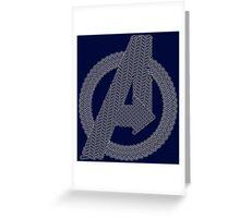 Celtic Avengers A logo, White Outline, no Fill Greeting Card