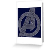 Celtic Avengers A logo, White Outline, no Fill Greeting Card