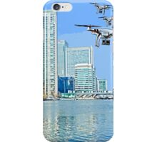 Drone swarm over the Docklands! iPhone Case/Skin