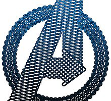 Celtic Avengers A logo, Black Outline, Blue Gradient Fill by Adamasage