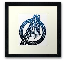 Celtic Avengers A logo, Black Outline, Blue Gradient Fill Framed Print