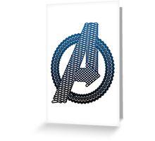 Celtic Avengers A logo, Black Outline, Blue Gradient Fill Greeting Card
