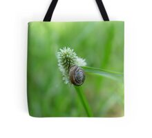 Snail on Sedge Tote Bag