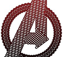 Celtic Avengers A logo, Black Outline, Red Gradient Fill by Adamasage