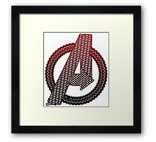 Celtic Avengers A logo, Black Outline, Red Gradient Fill Framed Print