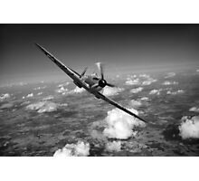 Battle of Britain Spitfire black and white version Photographic Print