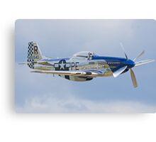 "Mustang P-51D ""Excalibur"" Canvas Print"