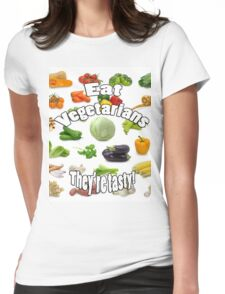 Vegetarians are Tasty Womens Fitted T-Shirt
