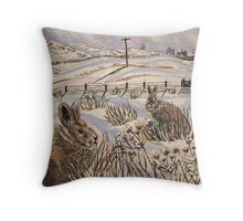 """Snow patrol"" Throw Pillow"