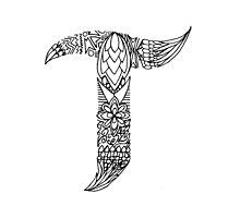 Patterned Letter T by Alyssa Zeldenrust