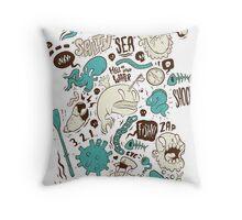 Salty Sea Throw Pillow