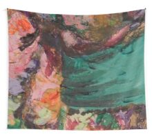 Acrylic Magenta and Teal Wall Tapestry