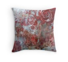 When Roses Bleed Throw Pillow