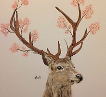 Blossomed Stag by SarahTheHat