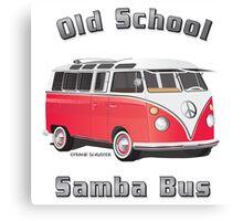 Old School Samba Bus Canvas Print