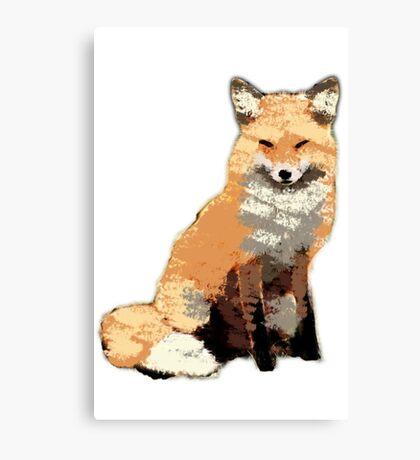 Painterly Fox Canvas Print