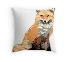 Painterly Fox Throw Pillow