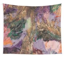 Acrylic Purple and Gold Wall Tapestry
