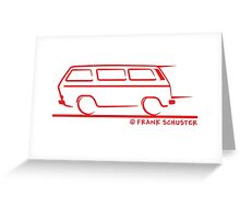 Speedy VW Vanagon Caravelle Red Greeting Card