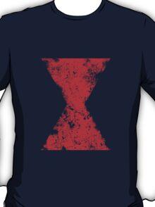 Faded Black Widow Symbol T-Shirt