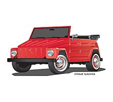 VW Volkswagen Thing Convertible Red Photographic Print