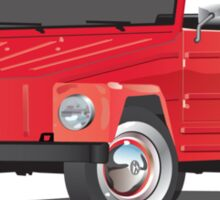 VW Volkswagen Thing Convertible Red Sticker