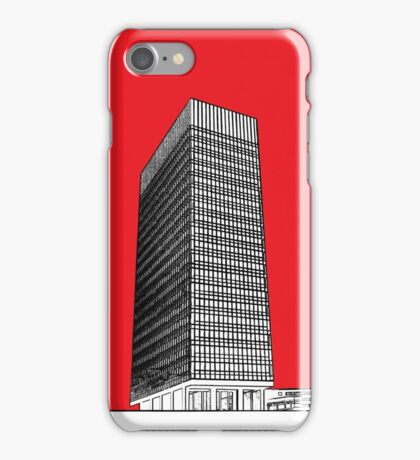 Sheffield University Arts tower - red iPhone Case/Skin