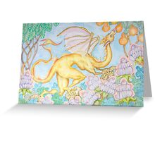Dragon and Lamp Flowers Greeting Card