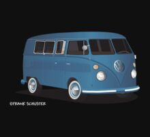 VW Bus T2 Transporter Blue  by Frank Schuster